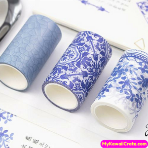 Blue White Porcelain Texture Style Washi Tape / Masking Tape