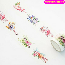 Butterfly Girl Fairy Tale Wide Washi Tape / Masking Tape