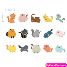 45 Pc Pk Cat Kingdom Decorative Mini Stickers