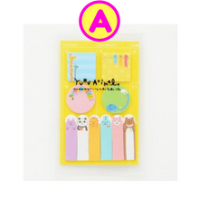 Colorful Animal Party Schedule Marker Sticky Notes ~ Index Notes