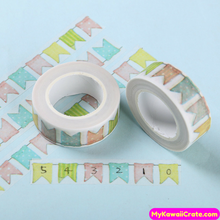 Colorful Festival Flags Washi Tape / Masking Tape