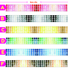 Colorful Gradient Mosaic Style Washi Tape / Masking Tape
