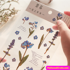 Blue Flowers Stickers