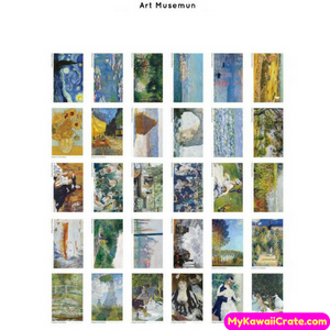 30 Pc Pk Creative Art Museum Van Gogh Oil Painting Style Postcards
