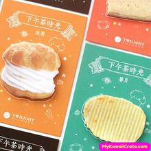 Creative Coffee Break Snack Time Adhesive Memo Notes