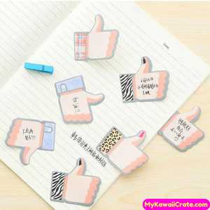 Creative Funny Like Thumb Encouragement Sticky Memo Notes
