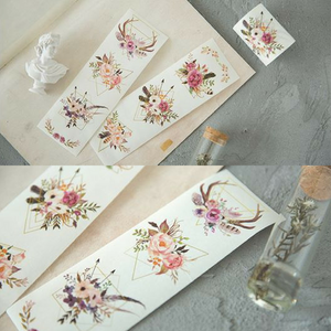 Creative Plants & Flowers Gilding Wide Washi Tape / Masking Tape