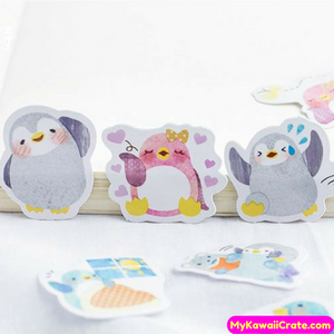 45 Pc Pk Cuddly Penguin Decorative Mini Stickers