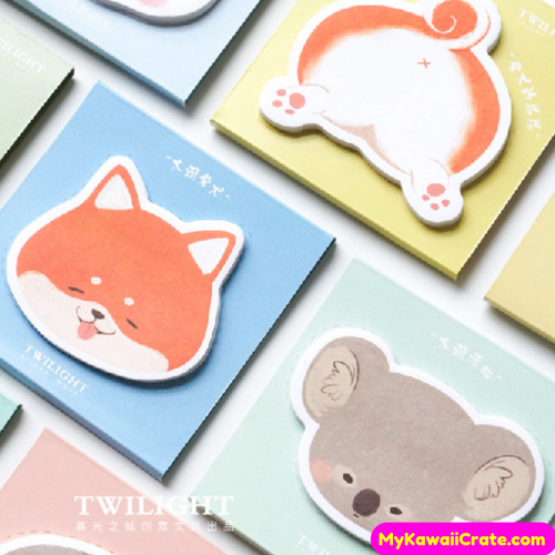 Kawaii Animals Funny Big Butt Sticky Notes