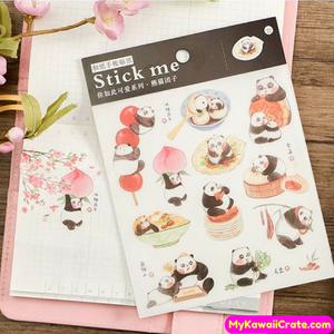 Cute Cartoon Animals Having Fun Decorative Stickers