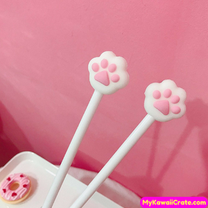 2 Pc Cute Cat Paw Gel Pens