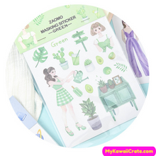 Cute Girls Activities Decorative Stickers