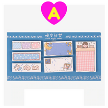 Cute Kawaii Girl Sticky Notes and Memo Notes Set