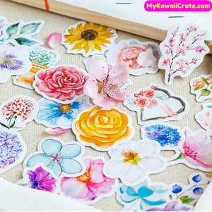 blooming flowers sticker