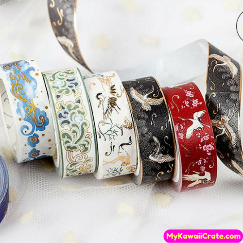 Flying Cranes Washi