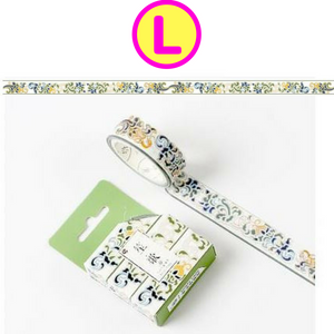 Divine Gold Cranes & Patterns Gilding Washi Tape / Masking Tape