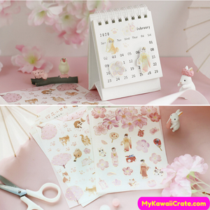 Early Spring Sakura Blossoms Gilding Decorative Stickers