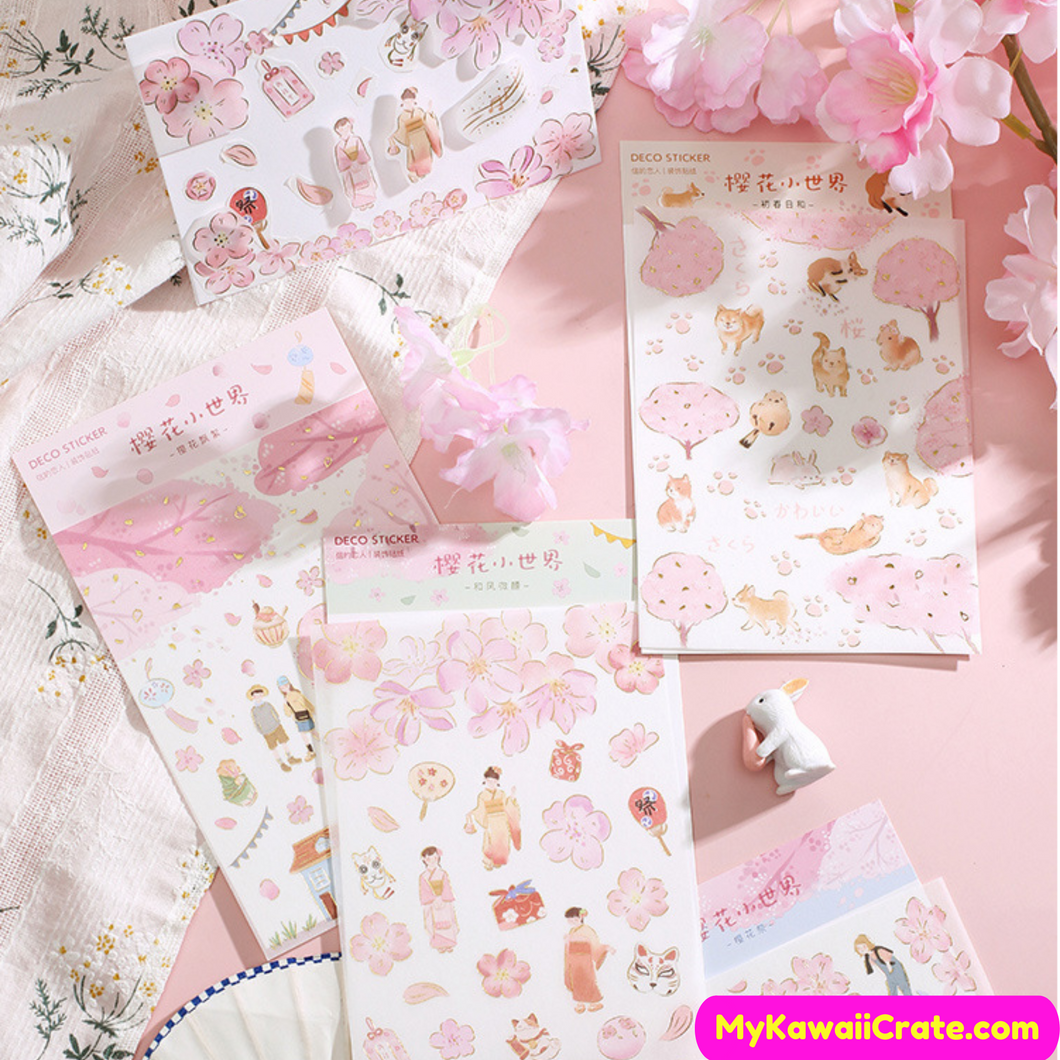 Sakura Flowers Stickers