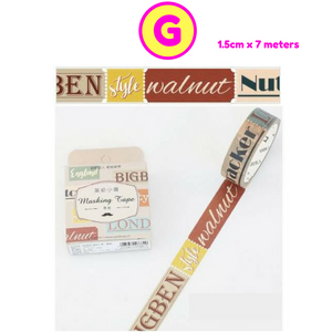 England Style Stripe Soldiers Ticket Decorative Washi Tape / Masking Tape