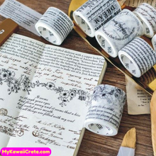 English Proverbs Poetry Letters Washi Tape / Masking Tape