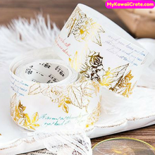 Engraved Golden Memories Gilding Washi Tape / Masking Tape