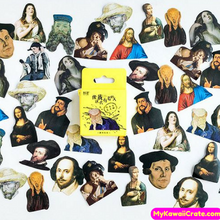 45 Pc Pk Famous Artists and People in History Decorative Stickers