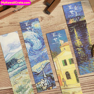 30 Pc Famous Paintings Van Gogh Style Bookmark Set