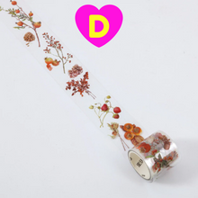 Fancy World of Flowers and Plants Translucent Decorative Tapes