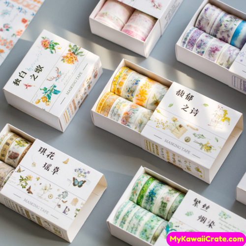 flowers washi tape set