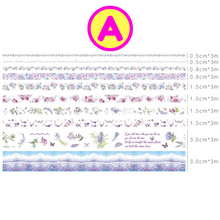 10 Pc Pack Flowers At Dawn Washi Tape Set