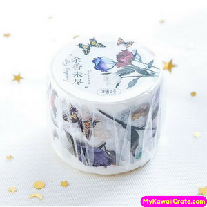 Colorful Flowers & Butterflies Washi Tape / Masking Tape