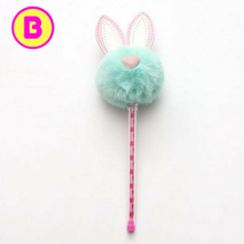 Kawaii Big Ears Rabbit Fluffy Pompom Gel Pen
