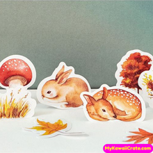 46 Pc Pk Forest in Autum Stickers