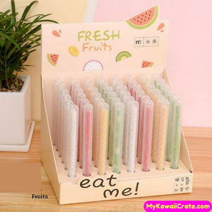 2 Pc Kawaii Fresh Fruit Gel Pens