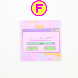Fall in Love Memo Note