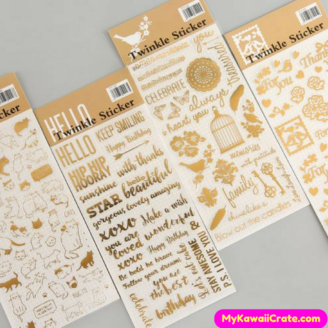 Golden Twinkle Decorative Stickers