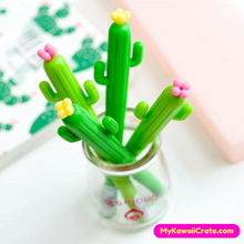 Desert Green Cactus with Flower Gel Pen