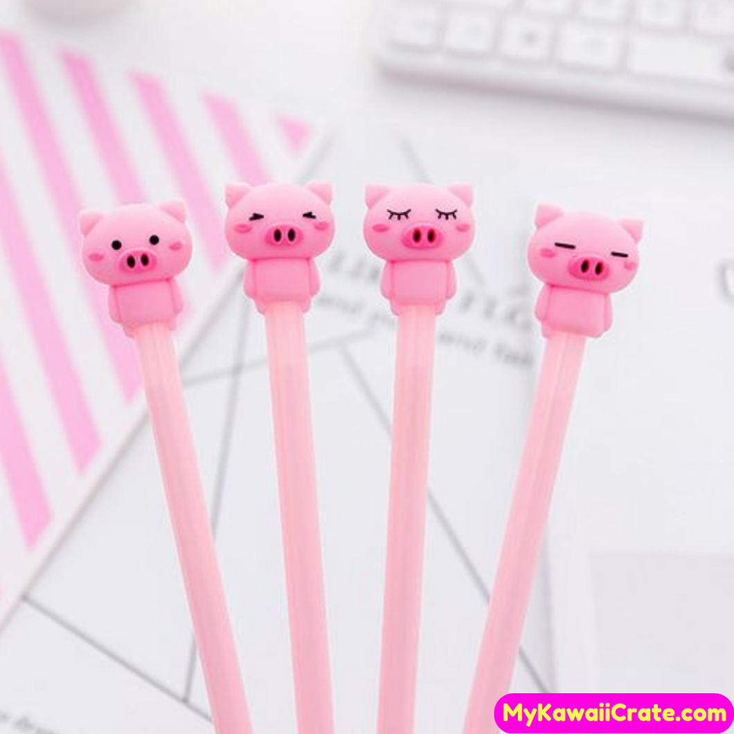4 Pc Hammie the Pig Gel Pens Set