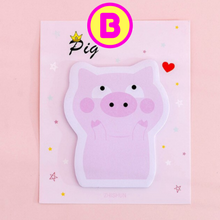 Lovable Pink Pig Sticky Notes ~ Pig Memo Notes