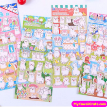 Happy Alpaca Puffy Stickers ~ 3D Stickers