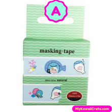 Kawaii Jinbe San Adorable Cartoon Whale Washi Tape / Masking Tape