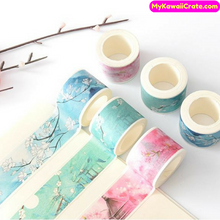 Japanese Scenery Mountain Flowers Washi Tape / Masking Tape
