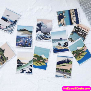 45 Pc Pk Japanese Ukiyo Scenery Pictures Decorative Stickers