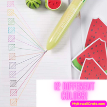 Juicy Watermelon 12 Colors in 1 Chunky Ballpoint Pen