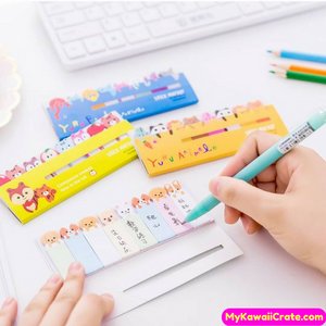 Kawaii Animals Colorful Sticky Marker Tabs / Cute Mini Sticky Notes