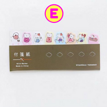 Kawaii Animals Sticky Markers / Cat Panda Planner Tabs / Slim Sticky Notes