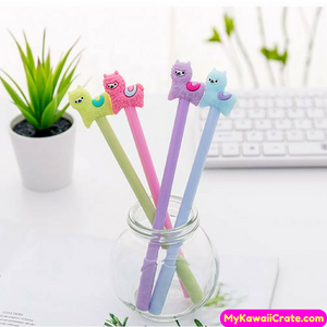 4 Pc Set Kawaii Baby Alpaca Gel Pens