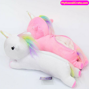 Cute Kawaii Unicorn Plush Pencil Bag