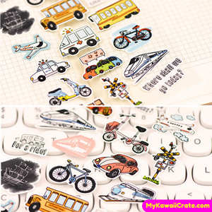 Cars Bicycle Stickers