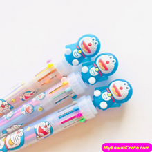 Kawaii Doraemon 10 Colors in 1 Chunky Ballpoint Pen